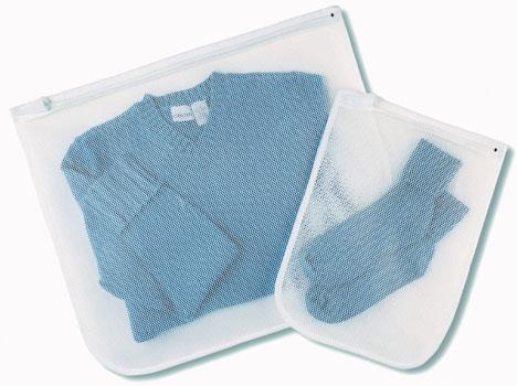 6154-140 Wash Bag Wht Mesh 2Cd