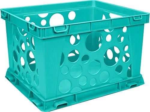 Storex Large File Crate, Classroom Teal, 3-Pack