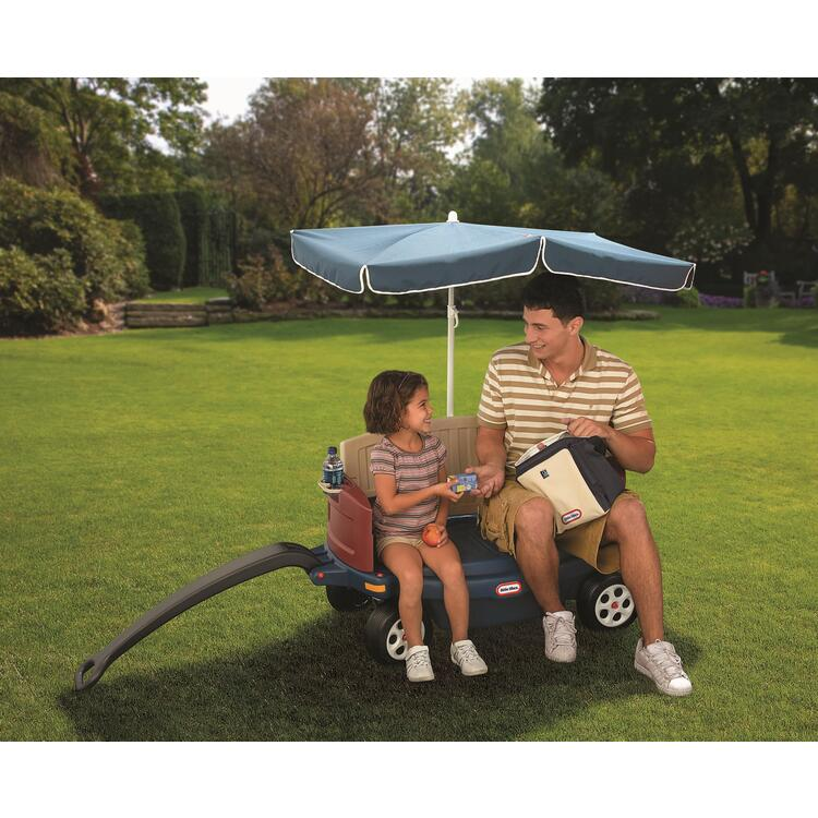 Little Tikes Deluxe Ride & Relax® Wagon with Umbrella & Cooler