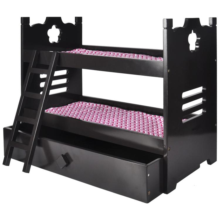 Naomi Home Kids Doll Bunk Bed with Trundle
