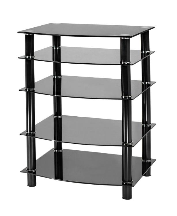 Naomi Home 5 Tier Glass Media Tower