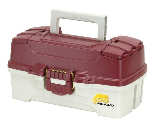 Tackle Box, 1-Tray, Red/White