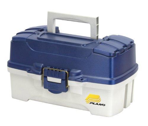 Tackle Box, 2-Tray, Blue/White