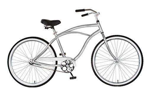 Cruiser Bike, 26 inch wheels, 18 inch frame, Men's Bike, Silver