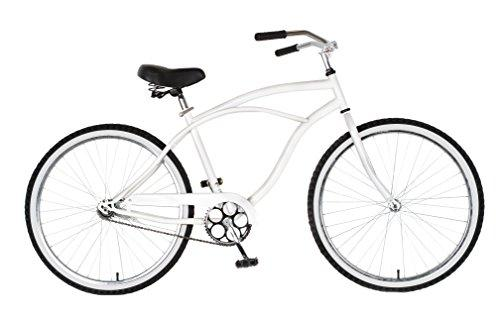 Cruiser Bike, 26 inch wheels, 18 inch frame, Men's Bike, White