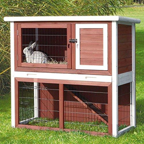 TRIXIE Pet Products Rabbit Hutch with Sloped Roof