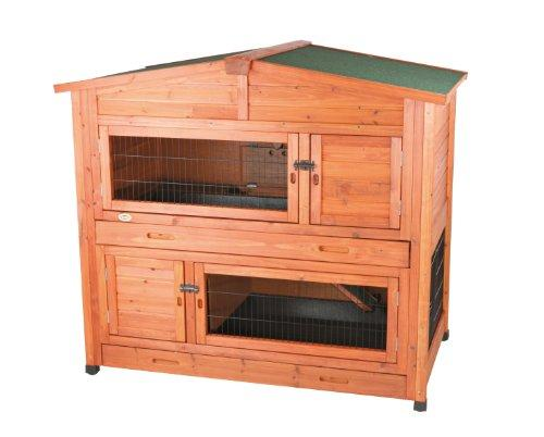 TRIXIE Pet Products 2-Story Rabbit Hutch with Attic