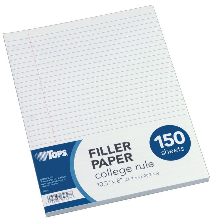 62328 Filler Paper Cr 150Ct