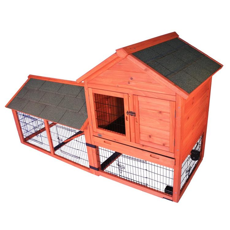 TRIXIE Pet Products Rabbit Hutch with Outdoor Run and Wheels