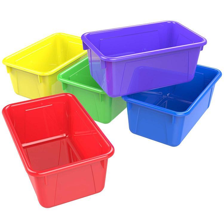 Storex Classroom Portable Cubby Bin, 5-Pack