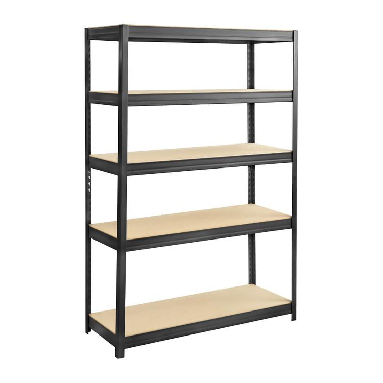 Boltless Steel and Particleboard Shelving, 48 x 18