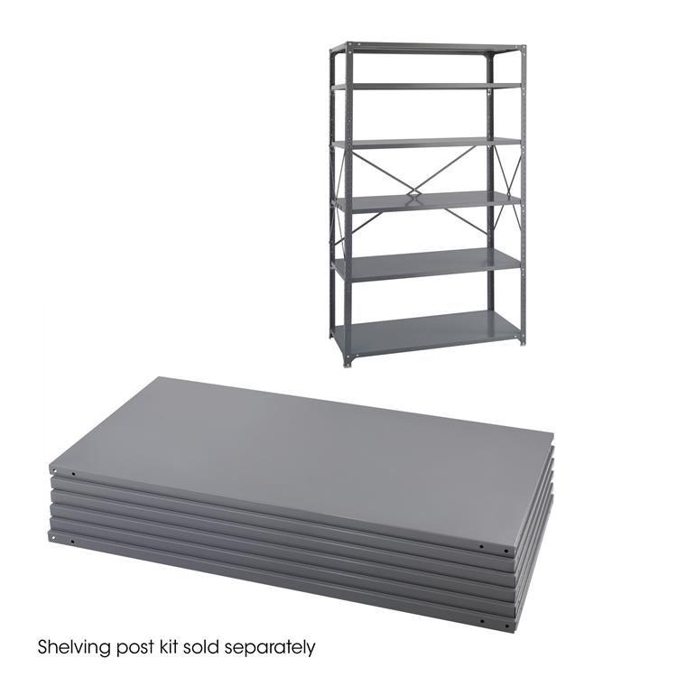 Industrial Steel Shelving, Shelf Pack, 48 x 24