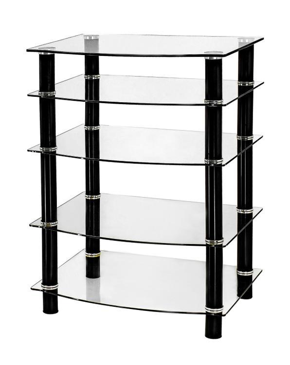 Naomi Home 5 Tier Glass AV Component Media Stand