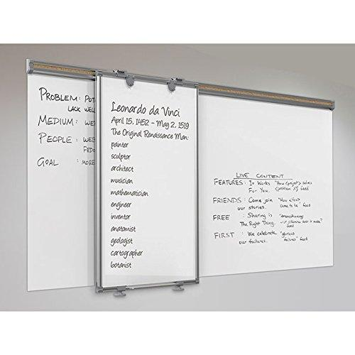 Whiteboard Track System - 6'Track & 1 Hanging Panel & 2 Frog Clips