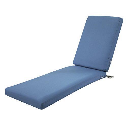 Ravenna Patio Chaise Lounge Cushion Slip Cover & Foam - Durable Outdoor Cushion, Empire Blue, 72