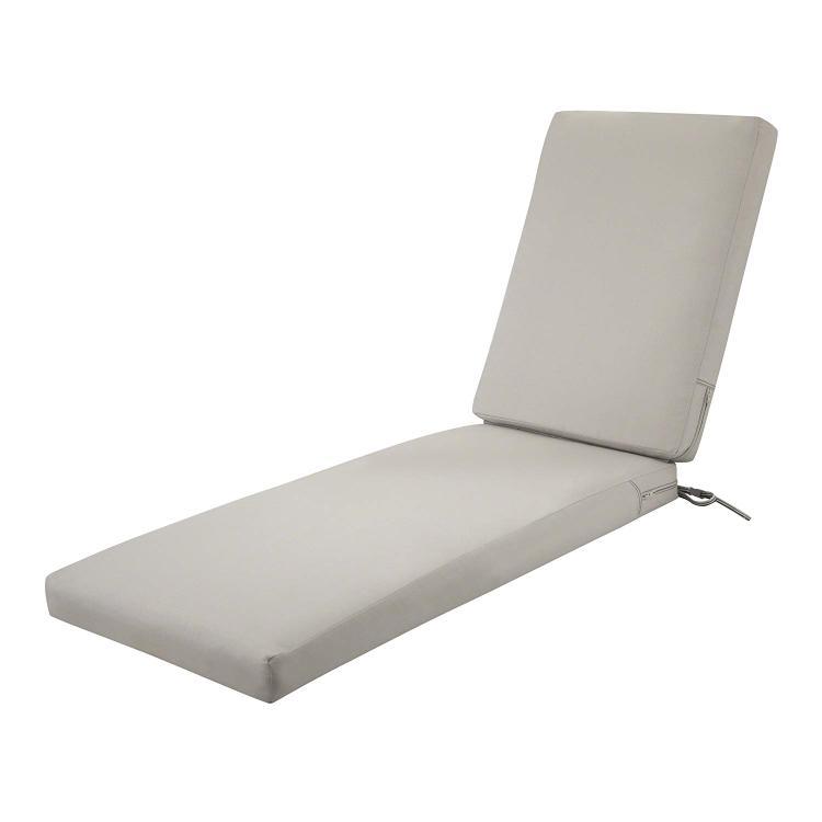Ravenna Patio Chaise Lounge Cushion Slip Cover & Foam - Durable Outdoor Cushion, Mushroom, 72