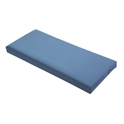 Ravenna Patio Bench/Settee Cushion Slip Cover & Foam - Durable Outdoor Cushion, Empire Blue, 48