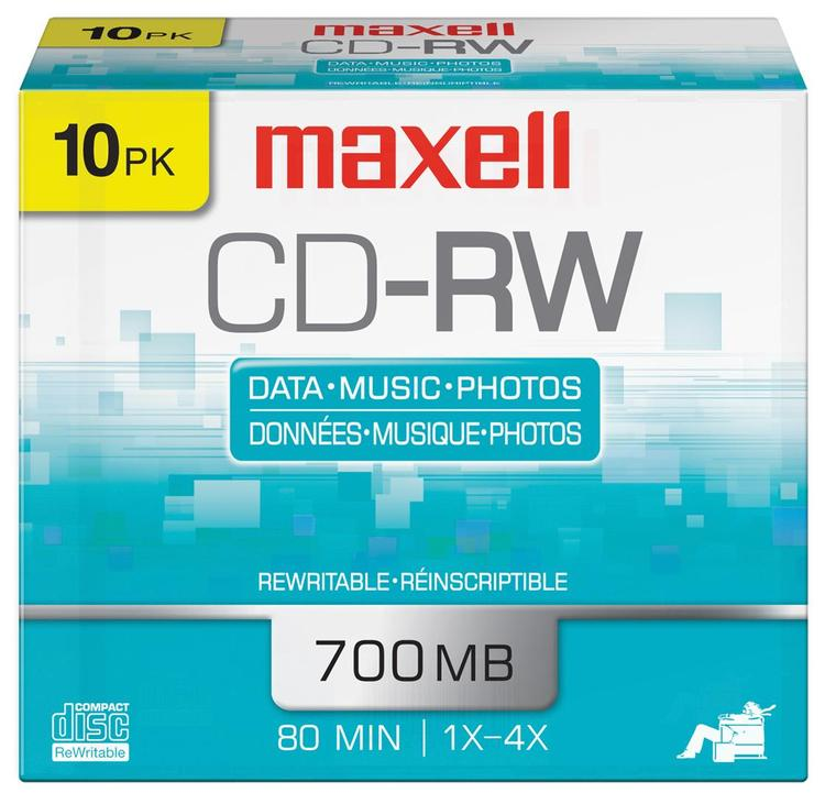 Maxell 630011 Cd-Rw 700Mb 80M 10Pk
