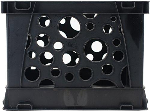 Storex Micro Crate, Black, 18-Pack