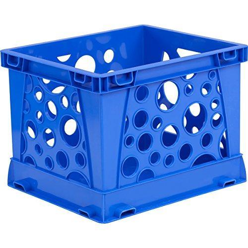 Storex Micro Crate, Blue, 18-Pack
