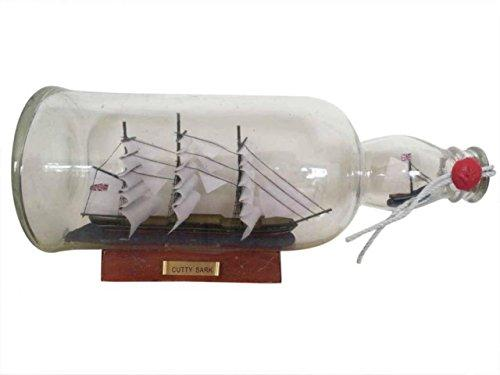 Cutty Sark Model Ship in a Glass Bottle 11''