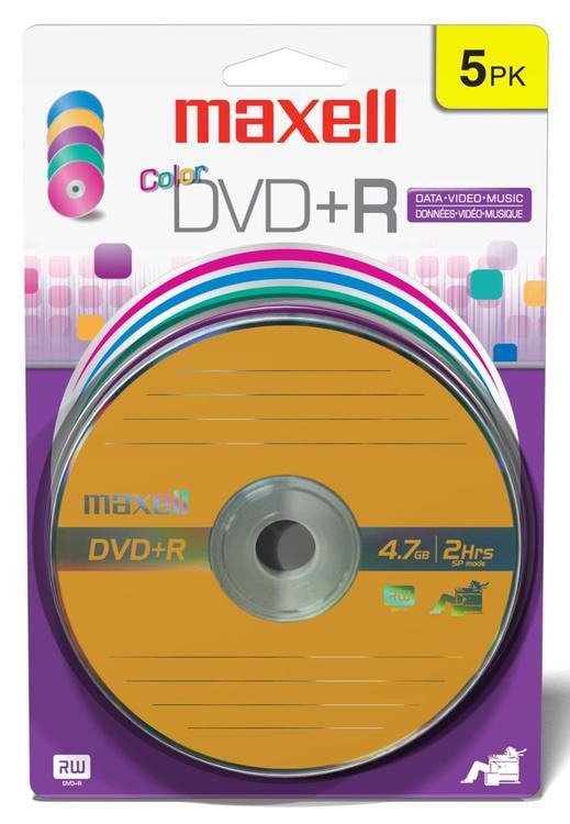 639031 Dvd+R Color 5Pk