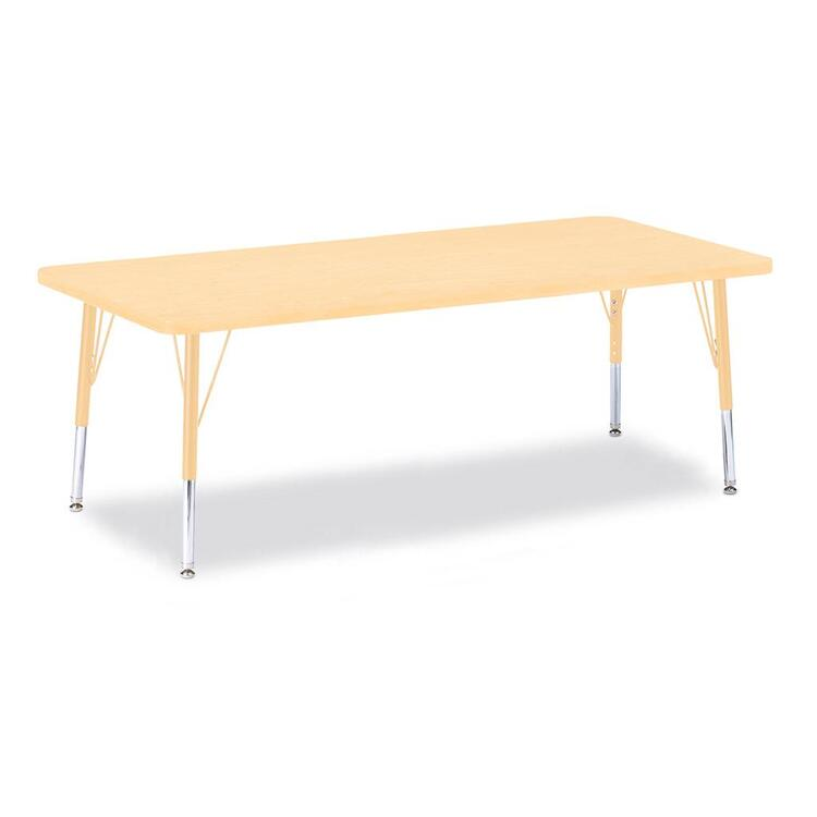 Berries® Rectangle Activity Table Prism Maple