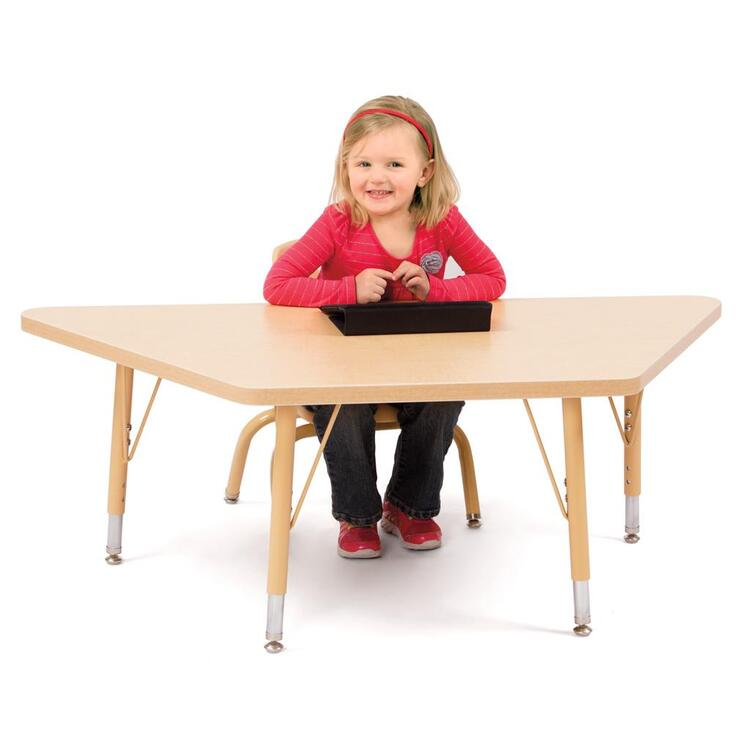 Berries® Trapezoid Activity Tables Prism Maple