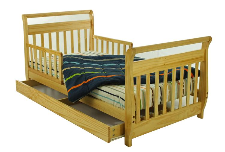 Dream On Me, Sleigh Toddler Bed With Storage Drawer