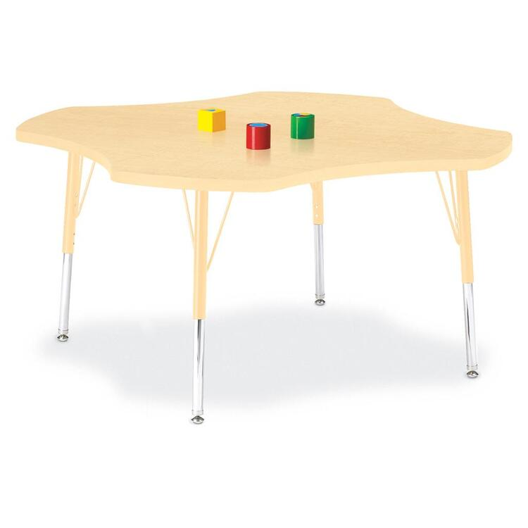 Berries® Four Leaf Activity Table Prism Maple