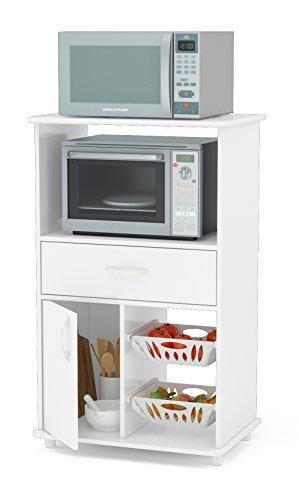 Boahaus White Kitchen Storage Cabinet Fruit Bowl 1 Drawer