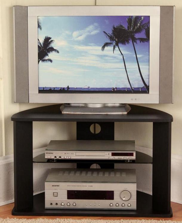 4D Concepts Corner TV Cart (Black)