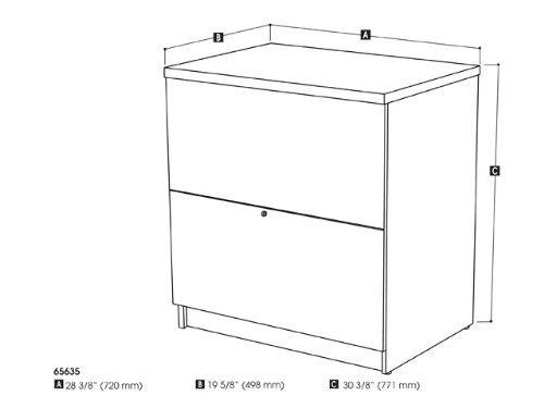Bestar standard Lateral file in Bark Gray