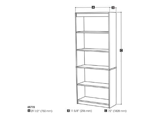 Bestar standard Bookcase in Bark Gray