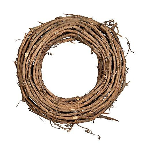 12 inch x 3.5 inch depth Grapevine Wreath, 2 Pack