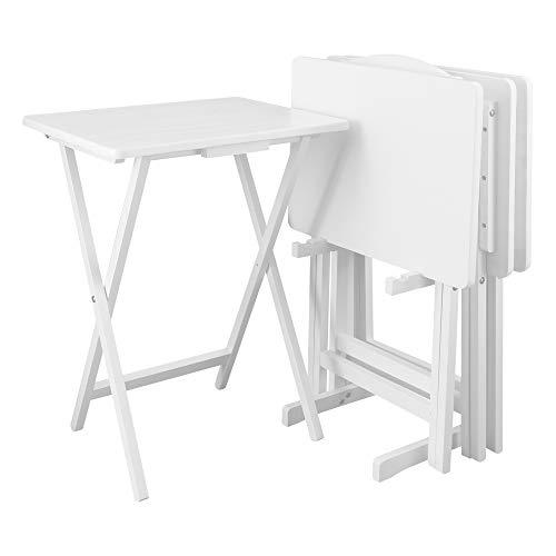 Casual Home 5pcs Tray Table Set - White [Item # 660-41]