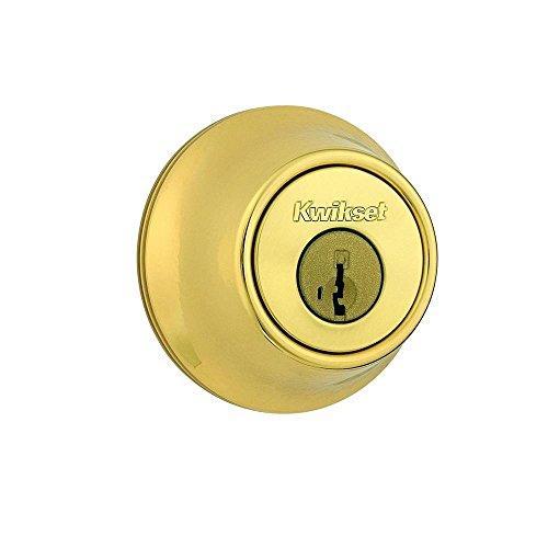 Kwikset 665-3S Double Cylinder Deadbolt Smart Key Bright Brass Finish