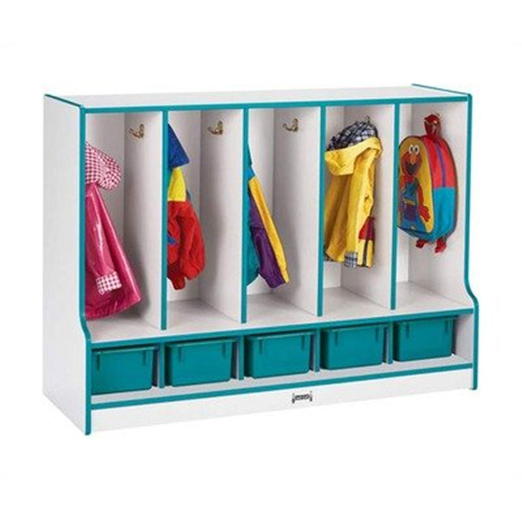 Jonti-Craft Toddler Coat Locker W/step - 5 Sections