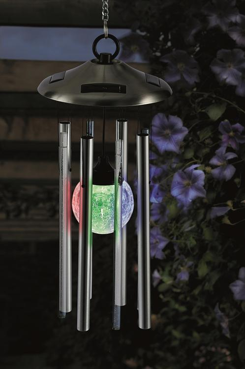 Cole and Bright WIND CHIME WITH SOLAR LIGHT