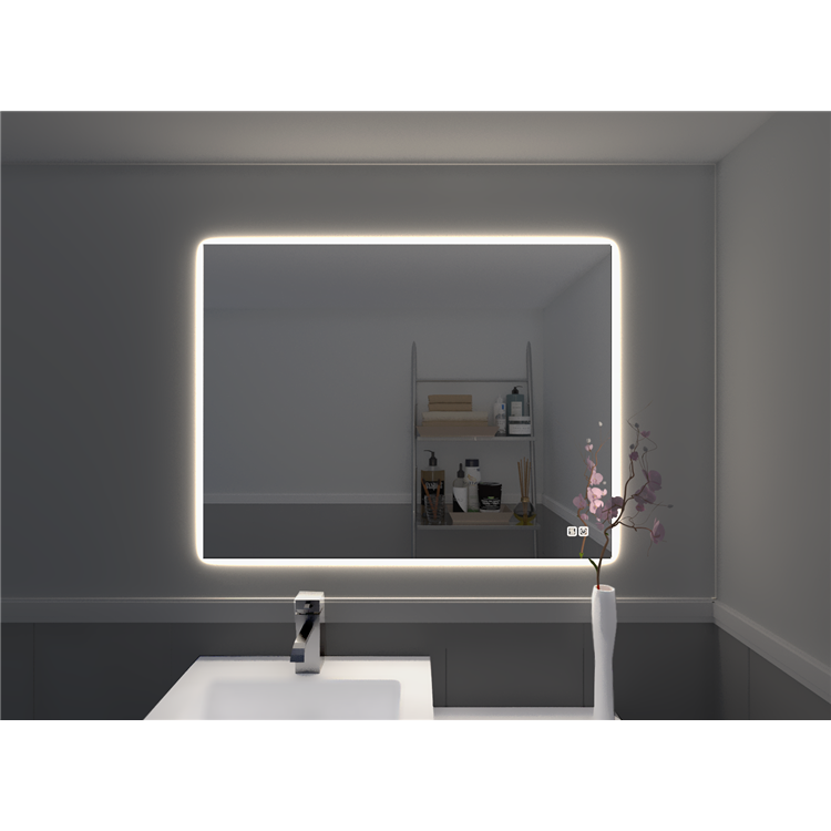 Naomi Home LED Lighted Bathroom Wall Mounted Mirror-Anti Fog, Touch Switch [Item # 67612A]