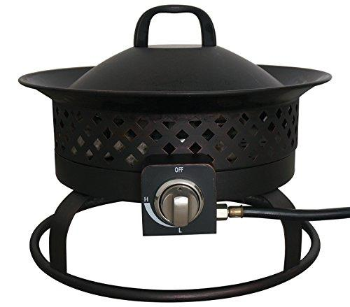 Aurora Steel Gas Firebowl - Rubbed Bronze
