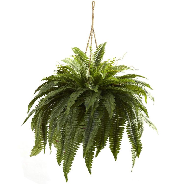 Nearly Natural Double Giant Boston Fern Hanging Basket [Item # 6788A]