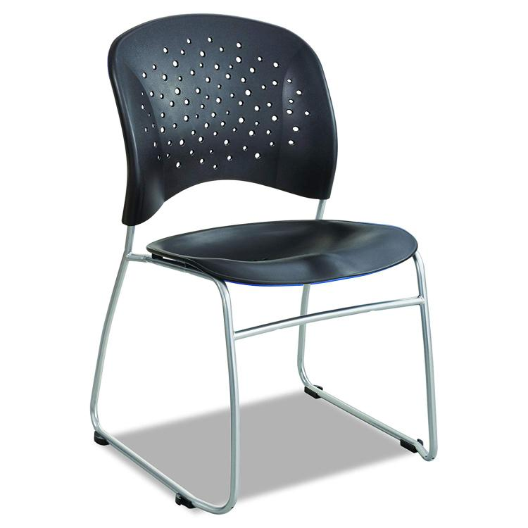Safco Reve Guest Chair, Sled Base, Round Back [Item # 6804BL]