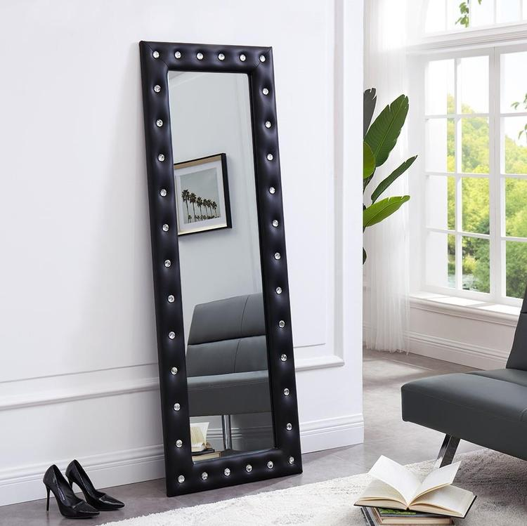 Naomi Home Crystal Tufted Mirror