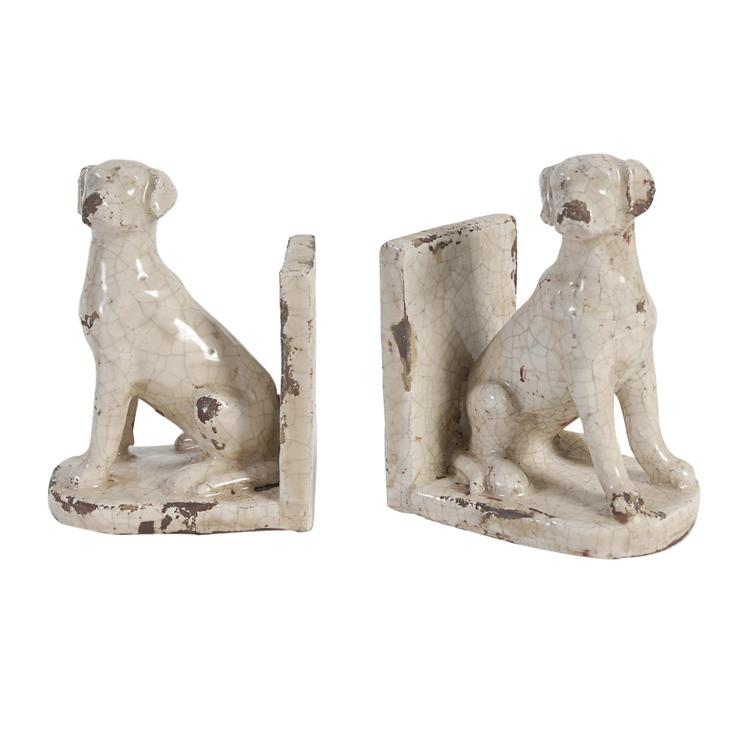 A&B Home Porter Dogs Bookends - Set of 2