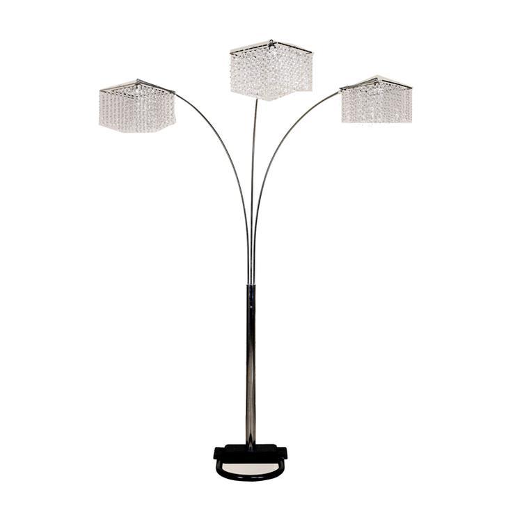 ORE International 84H 3 Crystal Inspirational Arch Floor Lamp