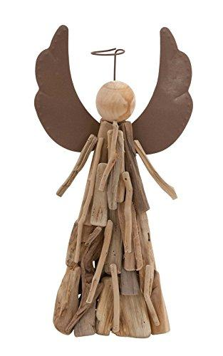 Wood Style Contemporary Angel With Halo