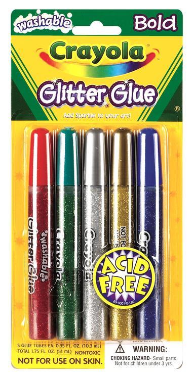 Crayola 69-3522 Bold Glitter Glue 5Ct