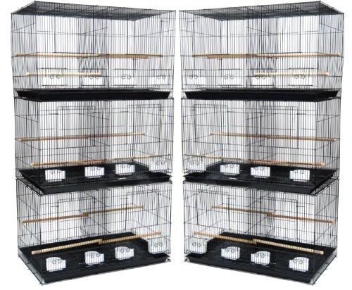 Lot of 6 Small Breeding Cages, Black