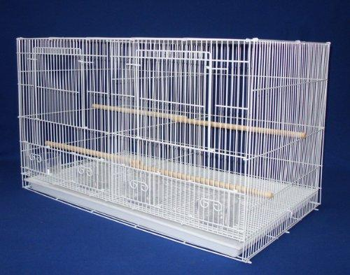 Lot of 6 Small Breeding Cages with Divider, White